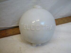 Antique Electra Milk Glass Lightning Rod Ball Sphere Globe Smooth Weather Vane B
