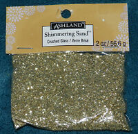 Package Of Gold Crushed Glass Glitter 2 Ounces