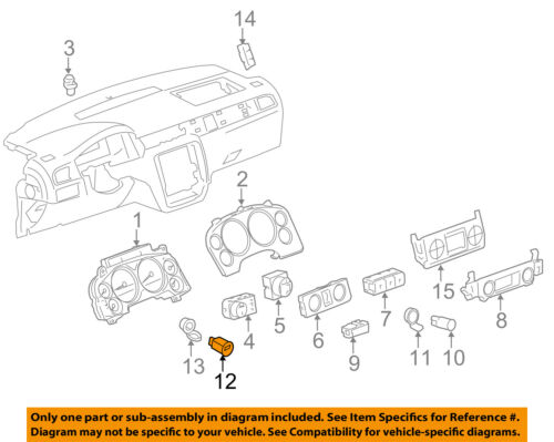 GM OEM Dash Cluster Switch-Auxiliary Jack 20944422