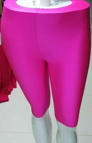 Pantaloncini ciclismo Donna Lucido Disco Dance In Nylon Lycra Da Palestra Yoga breve Swim Wear