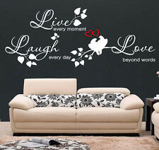 Wall Stickers LIVE LAUGH LOVE Wall Quotes LOVE VINYL WALL ART DECAL STICKERS S50