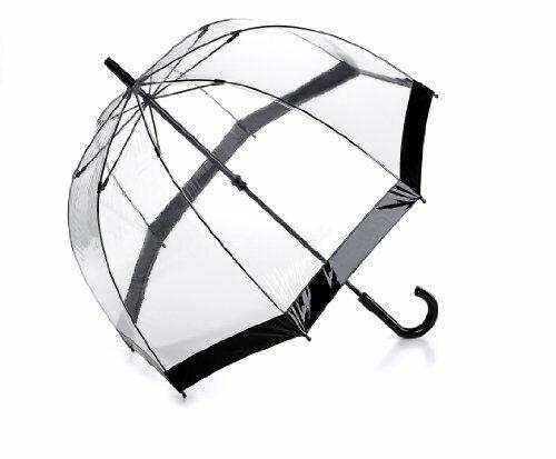 Fulton Birdcage 1 Transparent See Through Domed PVC Black Trim Fashion Umbrella