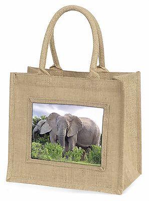 Afrikanische Elefanten Große Natürliche Jute-einkaufstasche Weihnachten,AE-11BLN