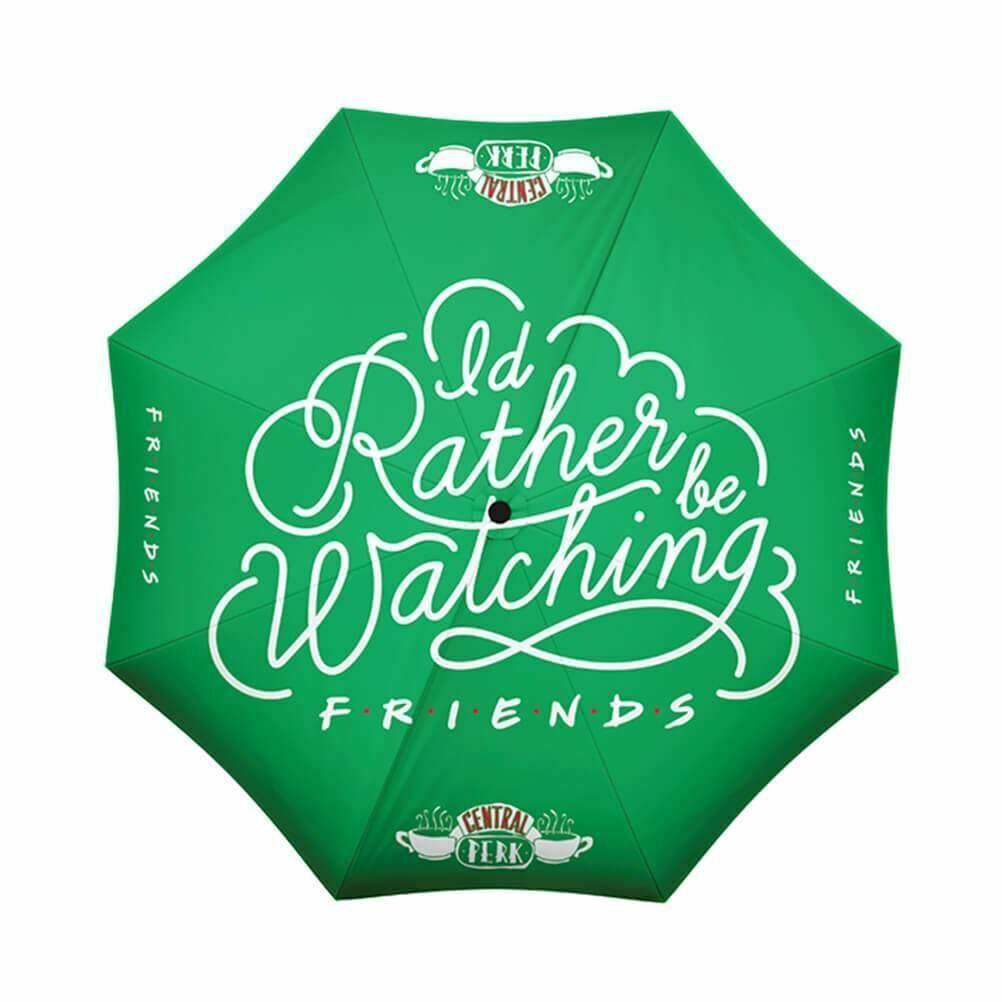 Friends Central Perk Rather Be Watching Compact Umbrella