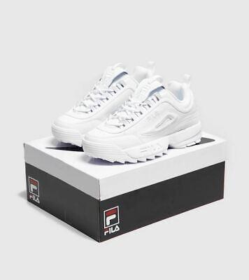 Genuine Fila Disruptor II Premium pour Femme Baskets Taille 5 5.5 6 6.5 Lourdingue Chaussures | eBay