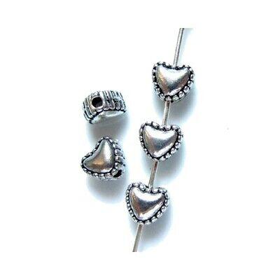 20 Intercalaires spacer /_ COEUR 5.5x6x4mm /_ Perles apprêts créati bijoux //A176//