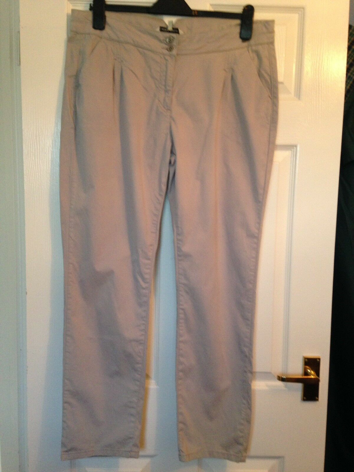 Laura Ashley Pale Grey Trousers, Size 16