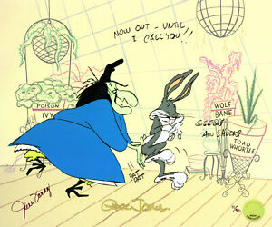 Warner Brothers-Limited Edition Cel-Bewitched Bunny-Witch Hazel,Bugs-Sign Foray