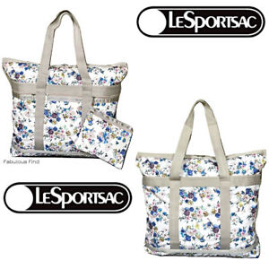 LeSportsac-Endless-Fields-Pink-Large-Travel-Tote-Cosmetic-Bag-NWT-Free-Ship