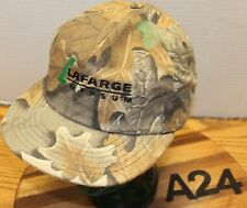 VINTAGE LAFARGE GYPSUM CAMO HAT SNAPBACK ADJUSTABLE MADE IN THE USA VGC A24