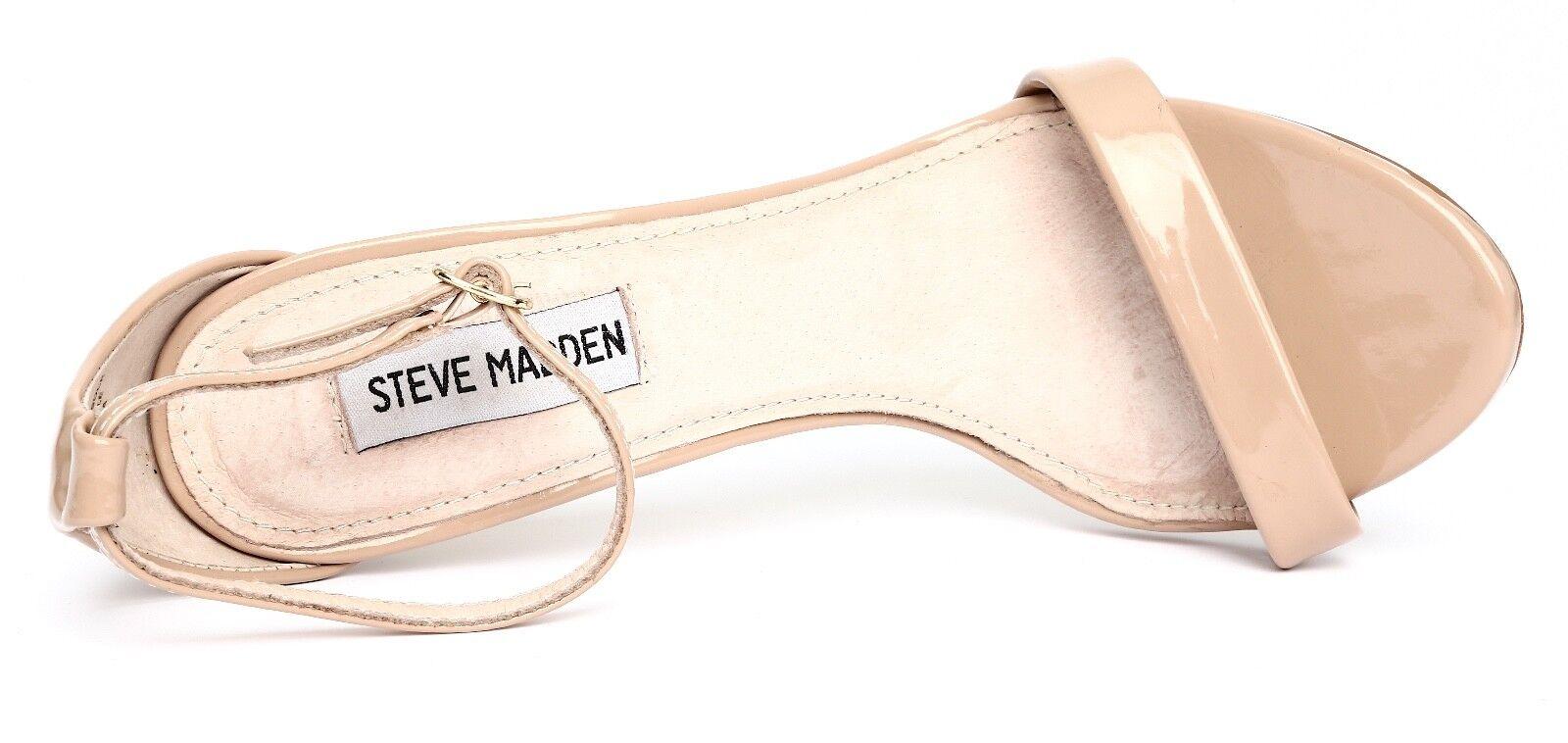 Steve Madden Stecy Patent Leder Nude Ankle Strap Heels Sandale Heels Strap Sz 7.5M 3309 95a634