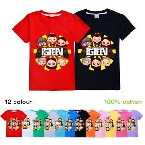 Hot-GURKEY-FUNnel-Vision-FGTeeV-Kids-Summer-Casual-Short-Sleeve-T-shirt-Tops