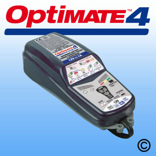 OptiMate 4 Dual Program Smart Charger - Maintainer - Genuine Optimate Stockist