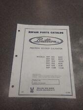 Brillion Precision Ro Crop Cultivator Repair Parts Manual 3j364