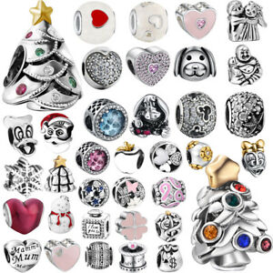 442ace23f Image is loading New-European-Silver-CZ-Charm-Beads-Fit-sterling-