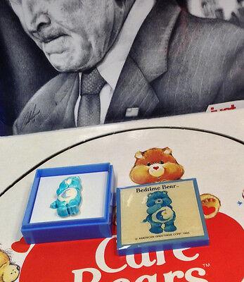 "CARE BEARS /""BEDTIME BEAR/"" VINTAGE PIN AMERICAN GREETINGS CORP 1985"