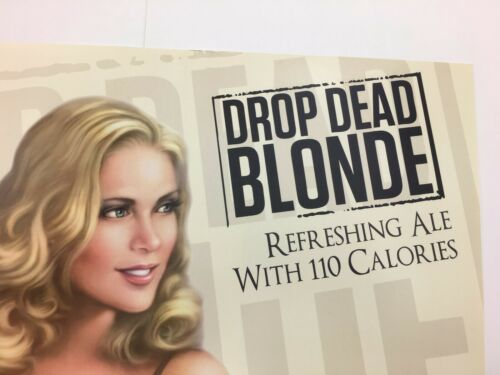 Point Brewing Beer Advertising Poster Drop Dead Blonde 17 x 11