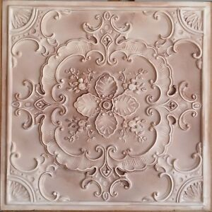 Details About Ceiling Tile 2x2 Faux Tin Painting Beige Cafe Bar Wall Panel 10tile Lot Pl19