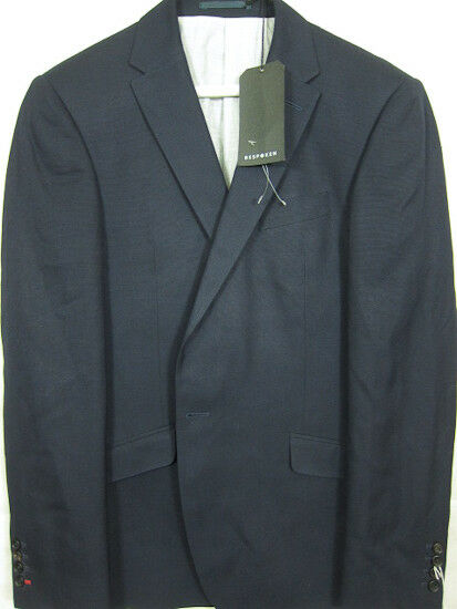Nwt Bespoken Nyc Dukles Marineblue blue Single-Button Wollblazer Sport Mantel