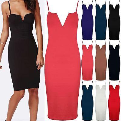 Womens Square Neck Cold Cut Out Shoulder Pencil Fit Ladies Bodycon Mini Dress