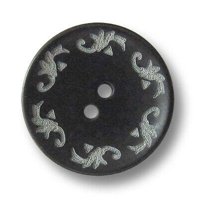 senfgelb gefärbte Steinnussknöpfe mit Trachtenmuster 3565ge 5 wunderschöne