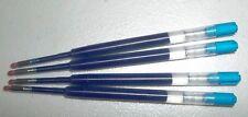 4 PARKER Style GEL Ink Refills - BLUE