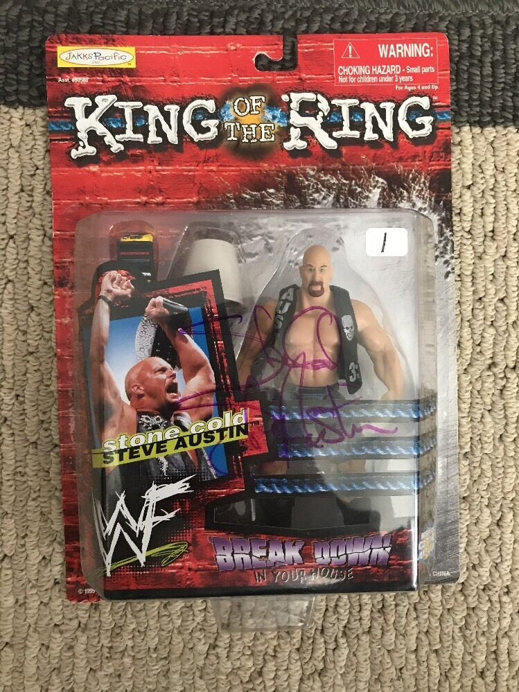 WWF King Of The Ring Stone Cold Steve Austin Car Signature Figure