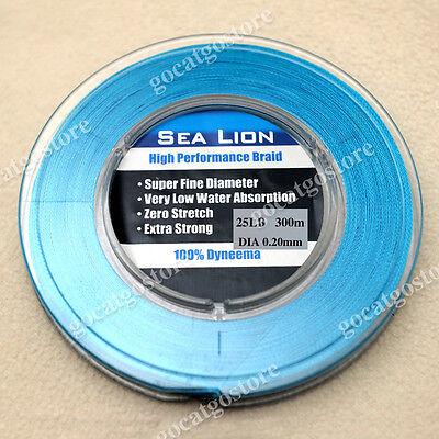 NEW Sea Lion 100/% Dyneema  Spectra Braid Fishing Line 300M 10lb yellow
