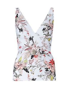 BNWT BEAUTIFUL M/&S  PLUNGE TANKINI TOP FLORAL SIZE 16 Free P/&pl
