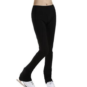 Winter Ice Figure Skating Long Pants Women Girl Warm Activewear Trousers 2XS