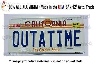 Back to the Future / Delorean / OUTATIME *EMBOSSED* Prop Replica License Plate