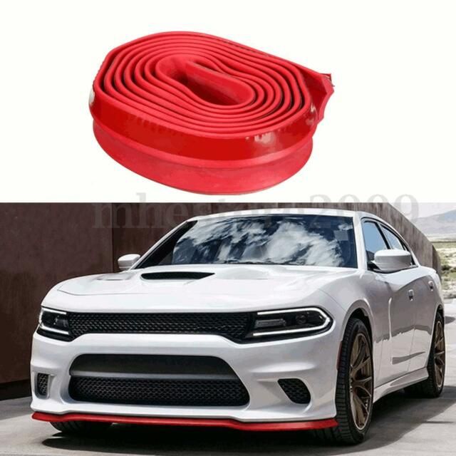 2''x 98'' Red Front Bumper Lip Protector Splitter Body Valence Chin Universal