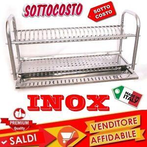 SCOLAPIATTI-COLAPIATTI-BASE-O-APPOGGIO-IN-ACCIAIO-INOX-DA-60-CON-RACCOGLIGOCCE