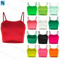 Womens Camisole Sleeveless Bralet Ladies Basic Strappy Bandeau Boobtube Crop Top
