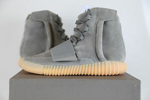 69faf7206b701a Adidas Yeezy Boost 750 Light Grey Gum Glow in Dark BB1840 6-11 black ...