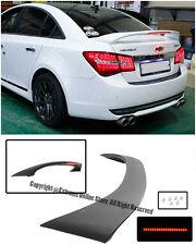 ABS Plastic Rear Trunk Spoiler W/ Third Brake Light For 11-15 Chevrolet Cruze