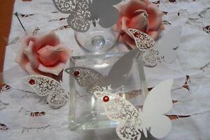 Segnaposto Matrimonio Rosso.Dettagli Su Sconto 85 Farfalle Segnaposto Bianca Perlata Cm 11x7 Strass Rosso X Matrimoni