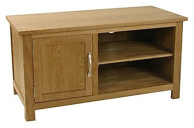 Carne Oak One Door TV Unit / Solid Oak Small TV Stand / Handcrafted Cabinet