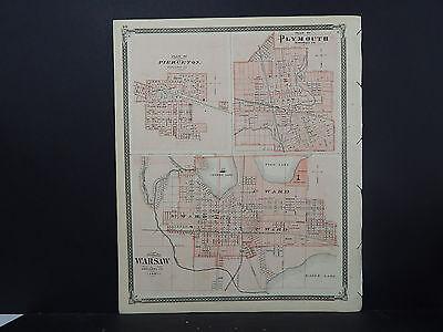 1876 Warsaw Plymouth Pierceton N2#11 Dutiful Indiana Maps