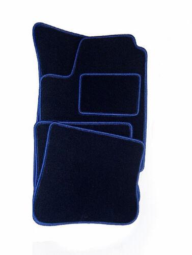Ajustées bleu foncé velour Voiture Tapis Kia Pride Bj 1990-2002