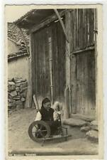 AK Ichtiman, Spinnerin, Foto-AK 1937