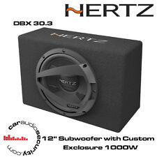 "Hertz DBX 30.3 - 12"" Car Subwoofer with Custom Box Exclosure 1000W"