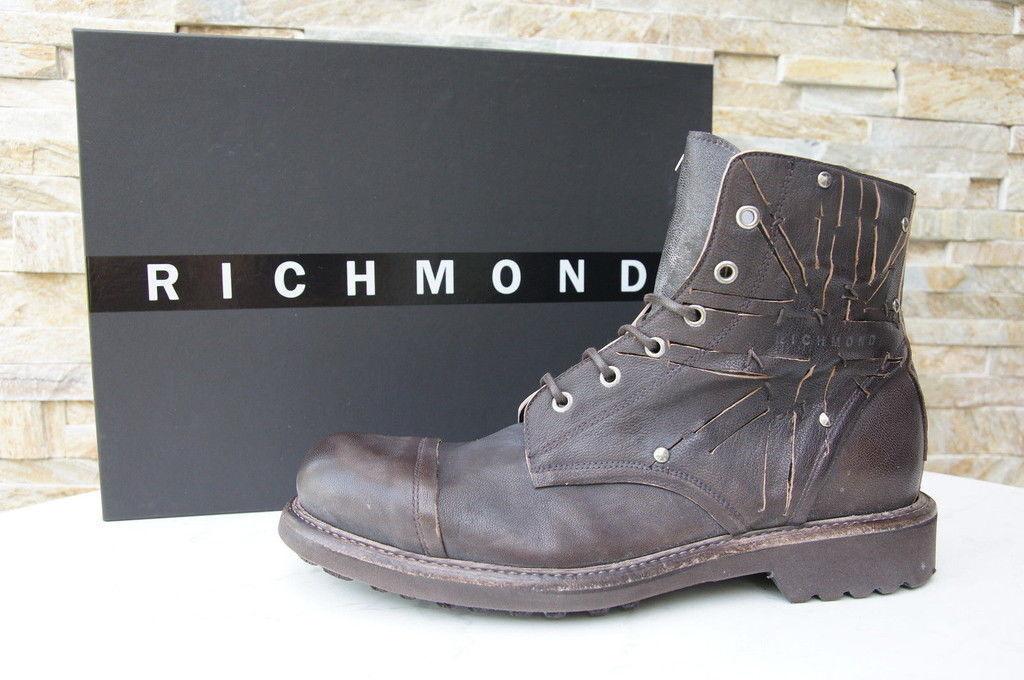Felice shopping ORIG Richmond Taglia 40 6 Stivaletti Scarpe Stivali Marrone Scuro Scuro Scuro Nuovo ex UVP  negozio di moda in vendita