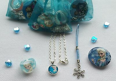 UNIQUE AND PRETTY FROZEN THEME GLITZY GLAM ORGANZA PARTY//BAG//GIFT//LOOT// FILLERS