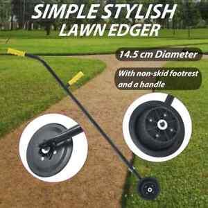 vidaXL Garden Lawn Edger 125cm Steel Lawn Border Grass Brush Cutter Trimmer