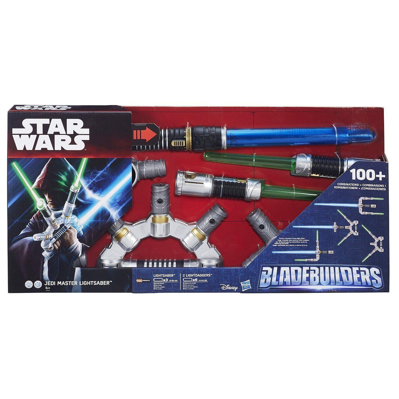 stjärnornas krig Bladebuilder Jedi Mäster Spada Laser Nuovo i Scatola Luci och Suoni