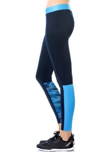 Reebok Femmes Entraînement Prêt Poly Collants Fitness Gym Yoga Collants-Toutes Tailles