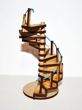 Fairy Door Spiral Staircase Ladder Elf Wooden Laser Cut Fairies Pixies Handmade