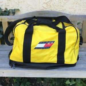 tommy hilfiger duffle bag yellow