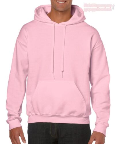 Light Pink Gildan Plain Hooded Heavy Blend Sweatshirt Pullover mens hoodie